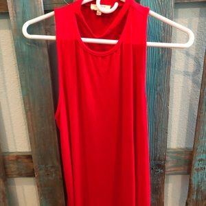 Red fashion tank top!
